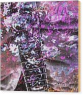 Jammin Out Digital Guitar Art By Steven Langston Wood Print
