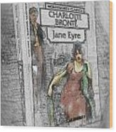 Jane Eyre Book Abstract Wood Print