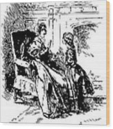 Jane Eyre Illustration Wood Print by