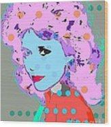 Jane Fonda Wood Print by Ricky Sencion