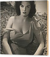 Jane Russell In The Outlaw Wood Print
