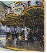 Jane's Carousel 1 In Dumbo Wood Print