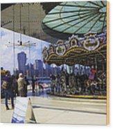 Jane's Carousel 2 In Dumbo - Brooklyn Wood Print