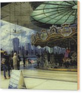 Jane's Carousel 3 In Dumbo Wood Print