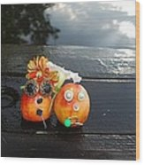 Jani And Duke Nectarine Wood Print
