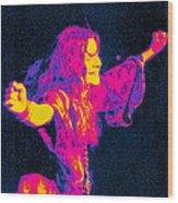 Janis Joplin Psychedelic Fresno 2 Wood Print by Joann Vitali