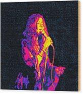 Janis Joplin Psychedelic Fresno  Wood Print by Joann Vitali