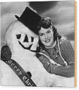 Janis Paige Offering Christmas Wood Print