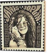 Janis Stamp In A Sepia Vibe Wood Print