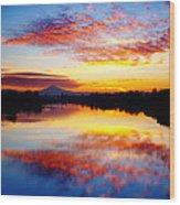 Jantzen Beach Sunrise Wood Print