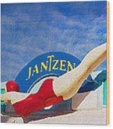 Jantzen Diver Wood Print