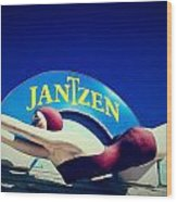 Jantzen Girl Wood Print by Gail Lawnicki