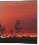 January Evening Skies Wood Print