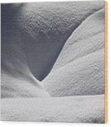 January Folds Wood Print
