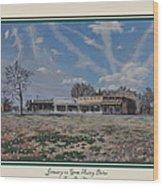 January On Gene Autry Drive Print Wood Print