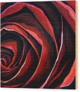 January Rose Wood Print