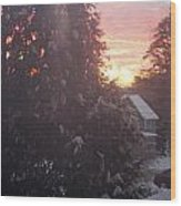 January Sunrise From Civill Avenue Wood Print