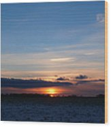 January Sunset 2 Wood Print
