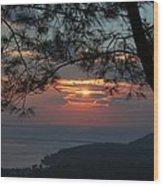 January Sunset Akyaka Wood Print