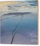 January Sunset On A Frozen Lake Wood Print