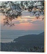 January Sunset Wood Print