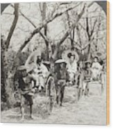 Japan Jinrikshas, 1907 Wood Print