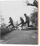 #japan #jump #people#newyear Wood Print