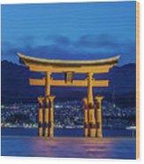 Japan, Miyajima, Itsukushima Shrine Wood Print