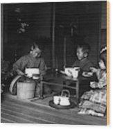 Japan Tea Party Wood Print