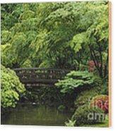 Japanes Garden Reverie Portland Oregon Wood Print