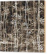 Japanese Bamboo Sepia Grunge Wood Print