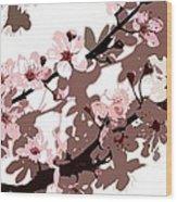 Japanese Blossom Wood Print by Sarah OToole