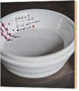 Japanese Bowls Wood Print