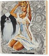 Japanese Chin Art - Una Parisienne Movie Poster Wood Print by Sandra Sij