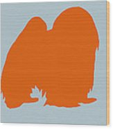 Japanese Chin Orange Wood Print