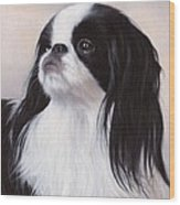 Japanese Chin Painting Wood Print