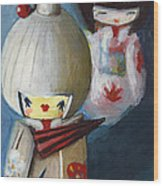 Japanese Dolls Wood Print