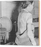 Japanese Female Victim Of Atom Bomb Wood Print