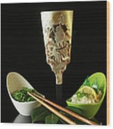 Japanese Fine Dining Wood Print