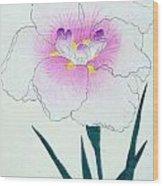 Japanese Flower Wood Print