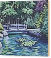 Japanese Garden Bridge San Francisco California Wood Print