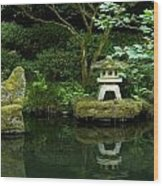 Japanese Garden Calmness Wood Print