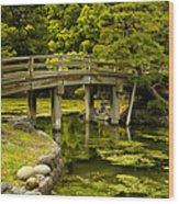 Japanese Garden Tokyo Wood Print
