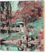Japanese Garden's Wood Print