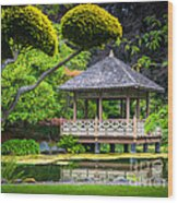 Japanese Gazebo Wood Print
