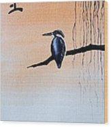 Japanese Kawasemi Kingfisher Feng Shui Earth Wood Print