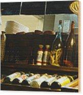 Japanese Kitchen And Sake Selection Wood Print