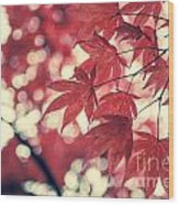 Japanese Maple Leaves - Vintage Wood Print