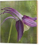Japanese Serenity Columbine Blossom Wood Print