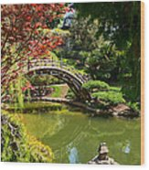 Japanese Spring - The Japanese Garden Of The Huntington Library. Wood Print